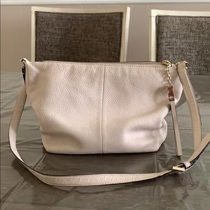 Cream slouchy leather mate spade shoulder bag ♠️